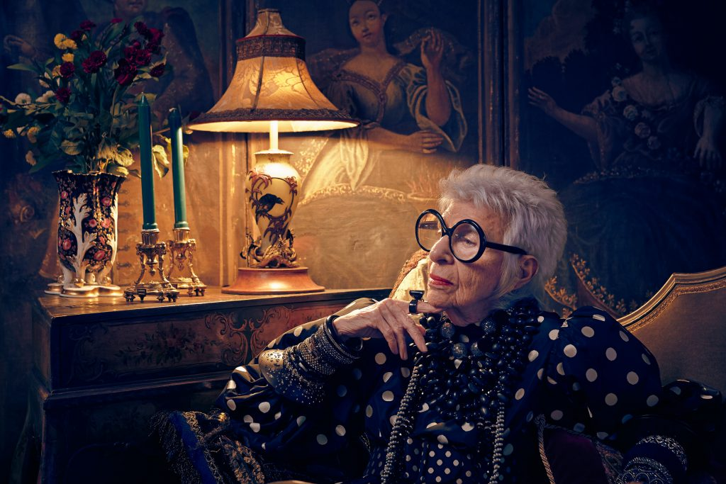 Iris Apfel in new York apartment photo by Todd Antony