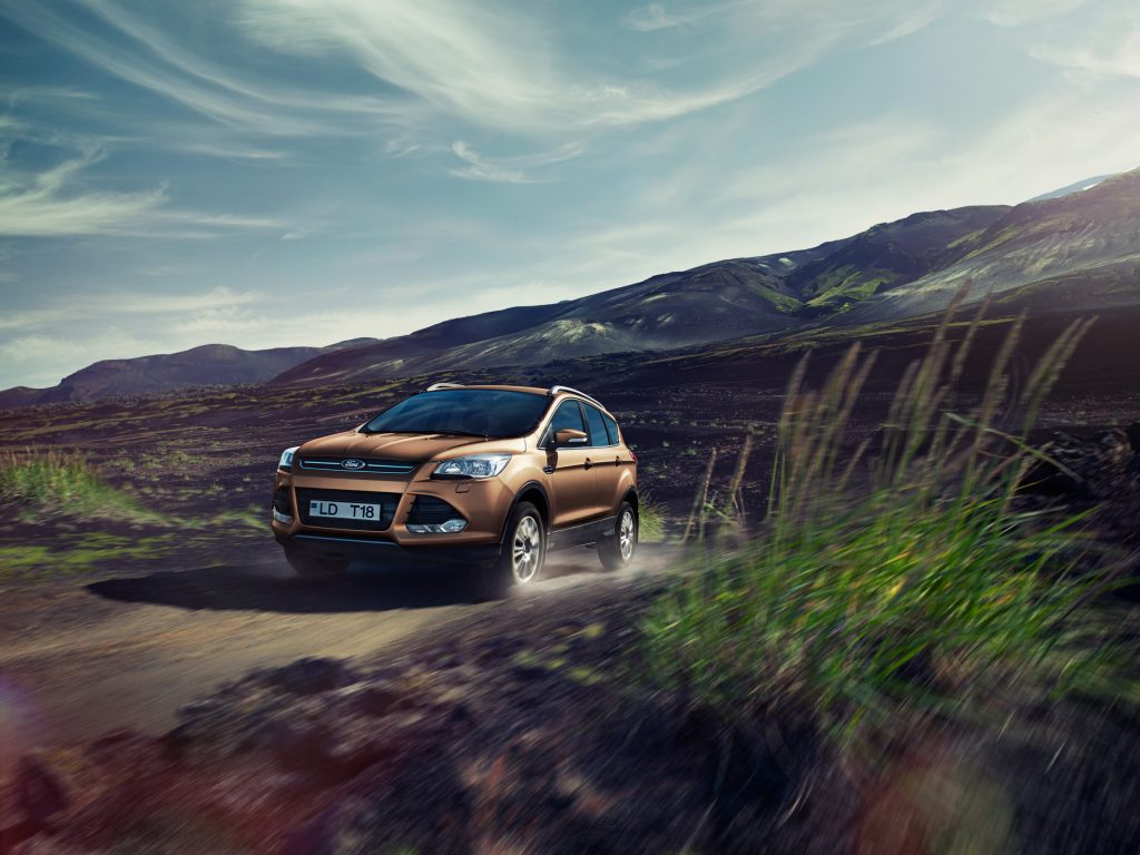 Ford car driving in Iceland photo by Todd Antony