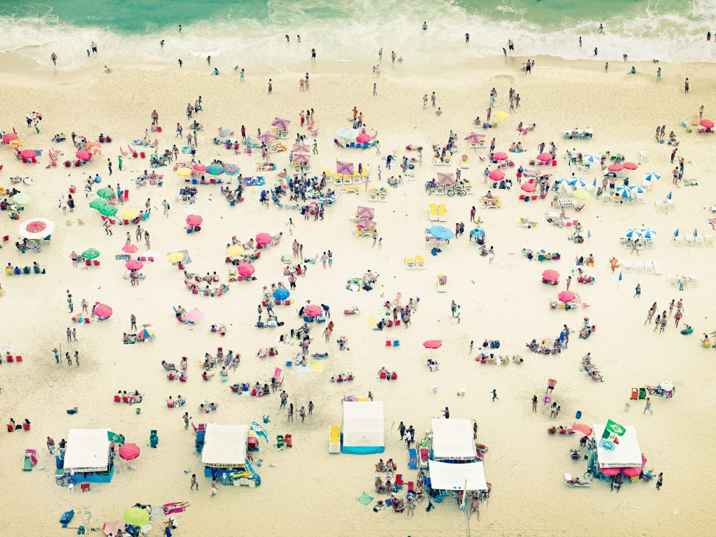 aerial view of Ipanema Beach in Rio de Janeiro photo by Todd Antony