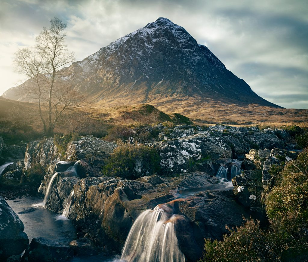 Glen Etive mountain in Scotland photo by Todd Antony