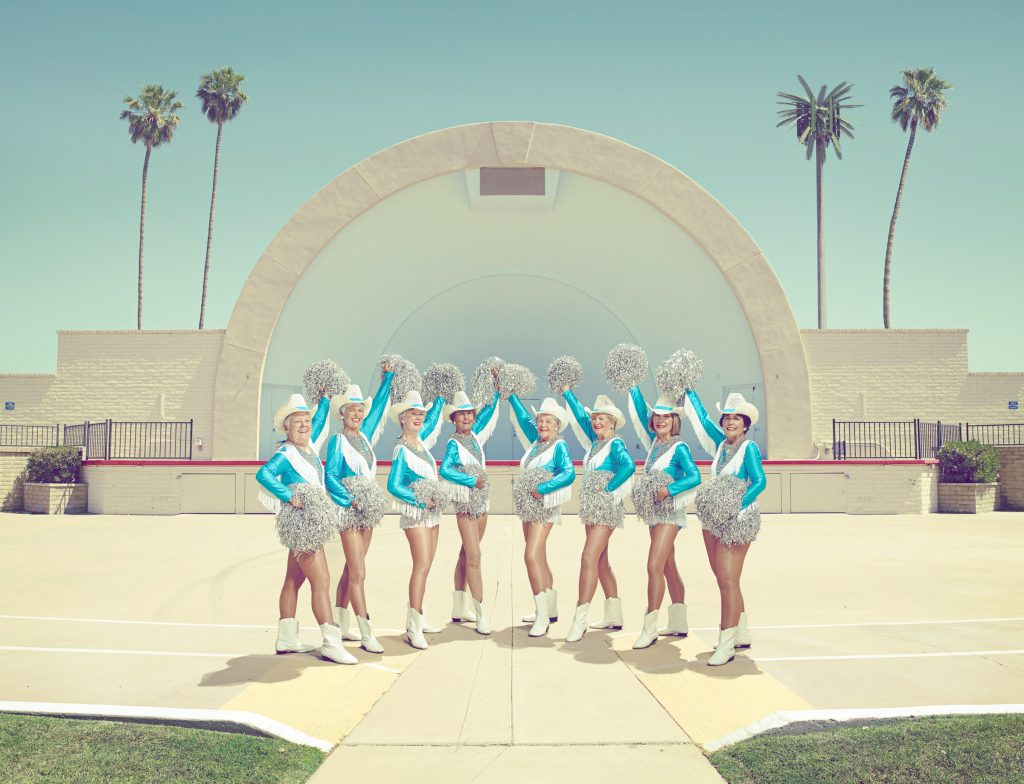 old lady cheerleaders and palm trees in Arizona photo by Todd Antony